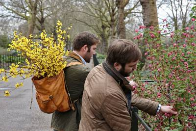 Oliver and Richard Gladwin foraging