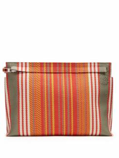 Loewe - Striped canvas pouch, £425