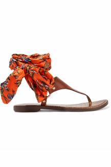 Sam Edelman Giliana leather and printed satin sandals, £95, net-a-porter.com