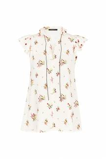 Louis Vuitton, Flower print blouse with ruffles, £1,110