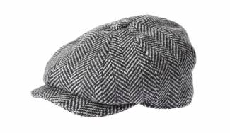 Holland Cooper Men's baker boy cap in wide-tooth black herringbone, £79, hollandcooper.com